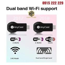 Thiết Bị HDMI Không Dây Kết Nối Điện Thoại Với Tivi Tốc Độ Cao 2.4G/5G Từ Mobile, Tablet, Laptop ra Tivi Hình Ảnh Siêu Nét 4K Anycast M100 Plus