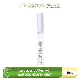 Lipgloss dưỡng môi Dầu dừa MILAGANICS 5ml - 8936089070141