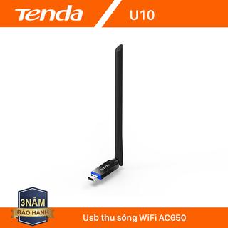Tenda USB kết nối Wifi U10 chuẩn AC tốc độ 650Mbps - Hãng phân phối chính thức - Tenda U10 thumbnail