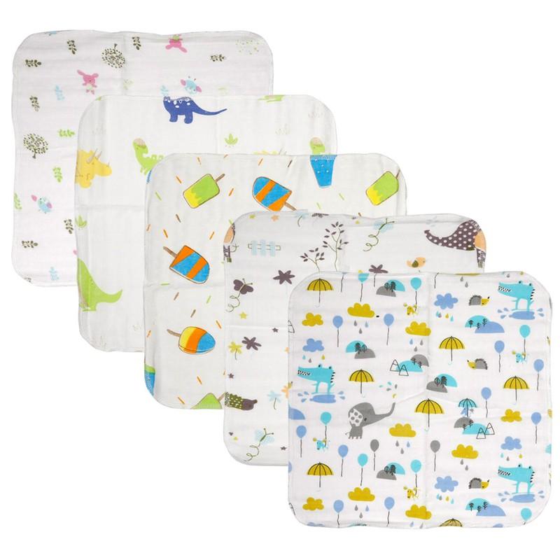 Khăn sữa , khăn xô cotton sợi tre cao cấp an toàn cho trẻ sơ sinh - đồ cho trẻ sơ sinh - KSST 4