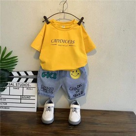 Sét áo cotton + quần jean bé trai - Sét áo cotton + quần jean bé trai
