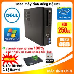 Case máy tính đồng bộ DELL CPU Dual core E5xxx / Core i5-4430 / Ram 4GB [QUÀ TẶNG: Bộ thu wifi, bàn di chuột]