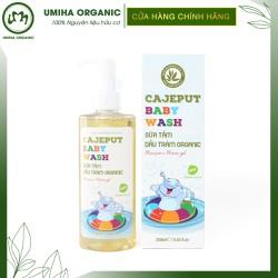 Sữa tắm gội dầu tràm organic Cajeput Baby Wash 250ml-Dùng cho trẻ sơ sinh trẻ nhỏ-An toàn không gây kích ứng da trẻ sơ sinh
