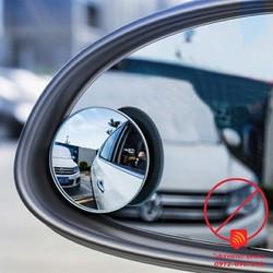 Gương cầu lồi gắn kính hậu ô tô xoay 360 xóa điểm mù