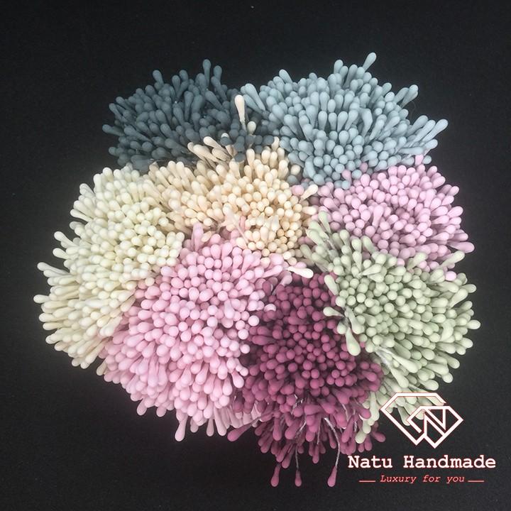 Nguyên liệu làm hoa cài áo - hoa cài tóc handmade - Nhụy hoa giả màu mờ - nhụy đơn