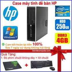 Case máy tính để bàn HP CPU Dual core E5xxx / i5-2400 - RAM 4GB / HDD 250GB-500GB / SSD 120GB-240GB [QUÀ TẶNG: Bộ phím chuột không dây + bàn di chuột] - SDV
