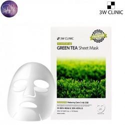 Mặt Nạ dưỡng da trắng mịn, se khit lỗ chân lông 3W Clinic Essential Up 25ml - Green Tea