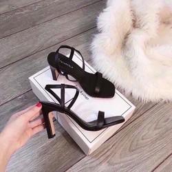 giày sandanl co gót hở mũi