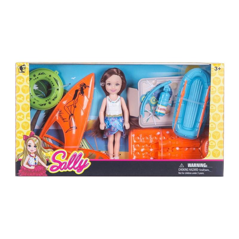 Bộ búp bê Sally đi tắm biển lướt ván – Bộ búp bê Sally đi tắm biển lướt ván