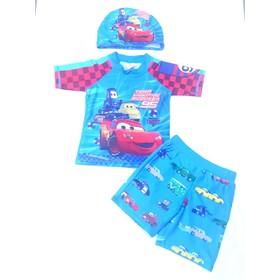 Bộ bơi 3 chi tiết oto bé trai 3-7 tuổi.Bộ bơi liền thân bé trai.Set bơi bé trai.Bộ bơi dài tay bé trai - 509