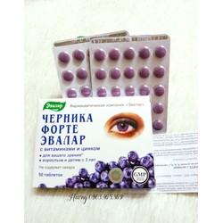 Viên uống sáng mắt, tăng cường thị lực Blueberry Forte Nga hộp 50 viên