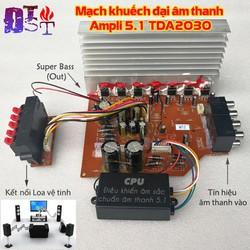Mạch khuếch đại âm thanh Ampli 5.1 TDA2030 + CPU điều khiển chuẩn âm sắc + kèm biến áp