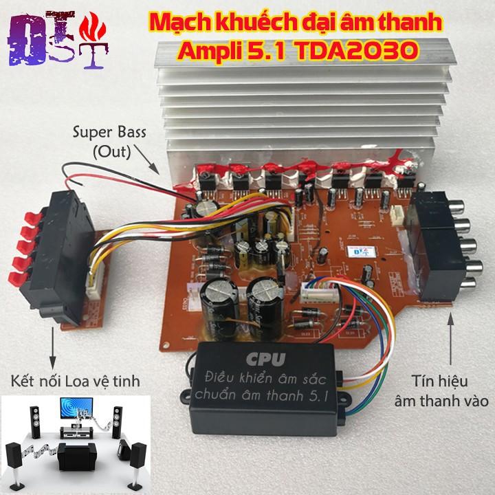Mạch khuếch đại âm thanh Ampli 5.1 TDA2030 + CPU điều khiển chuẩn âm sắc