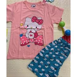 Bộ quần áo cộc cotton bé gái và bé trai