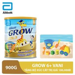 [Tặng bộ xúc cát] Sữa bột Grow 6+ hương Vani 900g