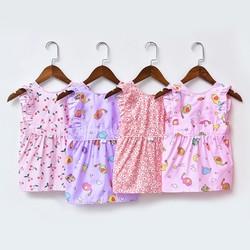 Váy Hoa Váy Ăn Dặm Trẻ Em Cotton Không Thấm Nước Hàn Quốc Kiểm Dáng Tạp Dề Chống Ướt Áo Cho Bé