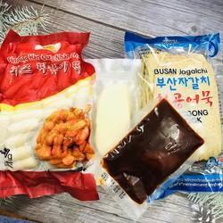 Bánh gạo phô mai Hàn Quốc kèm chả cá mozza và sốt  ( loại mới )