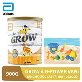Bộ 1 lon sữa Grow 4 G-Power Vani 900g tặng bộ xúc cát trị giá 100,000đ - GRO030178