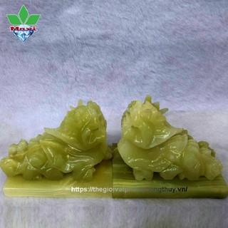 Cặp Tỳ Hưu Đứng Ngọc Onyx Xanh Có Đế - TH816DE08 thumbnail