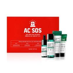 Bộ Kit 4 Sản Phẩm Dưỡng Da Giảm Mụn Some By Mi AHA BHA PHA 30 Days Miracle AC SOS Kit