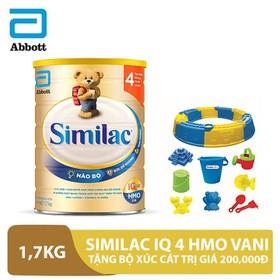 Bộ 1 lon Similac IQ 4 HMO Vani 1,7kg tặng bộ xúc cát trị giá 200,000đ - ABB000260B