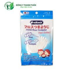 Túi tăm chỉ nha khoa Oraltana 50 chiếc - Sự kết hợp hoàn hảo giữa chỉ tơ nha khoa & tăm xỉa răng