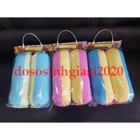 Bộ 2 Gối Ôm 40cm Gối Gòn - Gối Ôm phối 3 màu cotton cho bé - SKU119-e3l