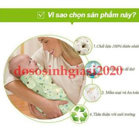 Ủ kén sơ sinh -Ủ kén vải cho trẻ sơ sinh hàng loại 1, chuẩn tem mác - SKU193-s4r
