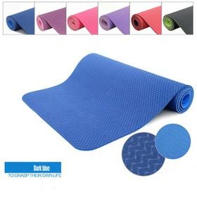 Thảm tập TPE YOGA MAT cao cấp 6mm 2 lớp siêu êm, siêu thấm hút, chống trơn trượt - thảm yoga