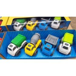 Set 4 xe công trình