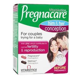Pregnacare him & her conception 60 viên tăng cường sức khỏe sinh sản