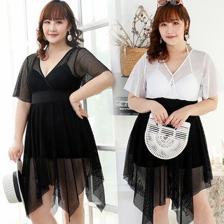 Váy lưới cổ V bigsize - VBEO292 thumbnail