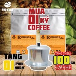 [KÈM 1 PHIN NHÔM + QUÀ+ TRỢ SHIP]COMBO 1 KG cà phê Robusta Buôn Ma Thuột Phú Xuân Coffee - Cà phê bột rang xay pha phin