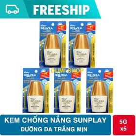Combo 5 kem chống nắng Sunplay Clear White dành cho da mặt tuýp 5g - 5CHONGNANG2
