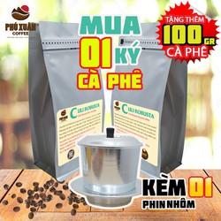 [KÈM 1 PHIN NHÔM + QUÀ + TRỢ SHIP]COMBO 1kg cà phê Culi Robusta Buôn Ma Thuột Phú Xuân Coffee - Cà phê bột rang xay pha phin
