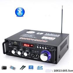 Bộ Ampli Mini Blutooth nguồn 12v/220v Chip Âm Thanh Cj22 Tạo Âm Bass Chắc Chắn, Âm Treble Sâu , Bluetooth Kết Nối 4.0 tích hợp 2 cổng MIC Cho Công suất Lớn 300w +300w Thích Hợp Sử Dụng Cho Dàn Karaoke Gia Đình amly giá rẻ