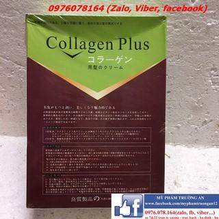 Nhuộm đen collagen bơ chuyên gia phủ bạc và găng tay nilong + chổi nhuộm - Combo 3 món thumbnail
