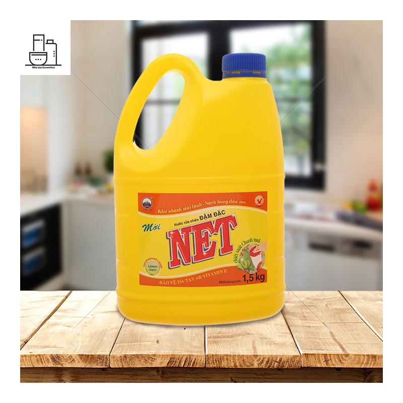 Nước rửa chén NET chiết xuất chanh tươi can 1.46 lít – rcnet1.5