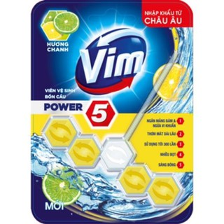 combo 2 vỉ Viên Tẩy Bồn Cầu Vim Power 5 Hương Chanh 55G Sạch Khuẩn Thơm Mát - 2 vi thumbnail