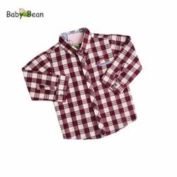 Áo Sơ Mi Cotton Ca Rô tay dài bé trai BabyBean