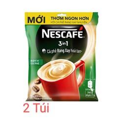 Combo 2 Bịch Nescafe Đậm Vị Cà Phê - Túi Màu Xanh (46gói/Túi)