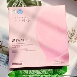 Bộ dưỡng da hoa hồng 3W Clinic Flower Effect Extra Moisturizing - SET3WROSE 2