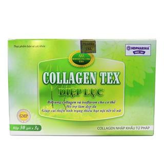 Diệp lục Collagen Tex hỗ trợ đẹp da chống lão hoá hộp 30 gói - clgtex-gói thumbnail