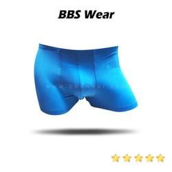 Boxer Lụa Sữa BBS WEAR Xuất Nhật, Quần Lót Nam Thun Lụa Chất Đẹp Sịp Mát Lạnh (Blue)