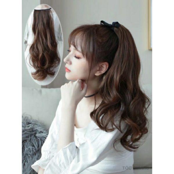 tóc cột xoăn cao