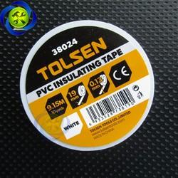 Băng keo điện trắng Tolsen 38024 dài 9.15M dày 0.13mm bảng 19mm