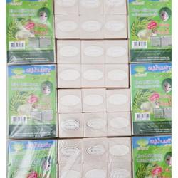 COMBO 12 CỤC Xà bông tắm trắng gạo sữa thái lan mẫu vuông PC