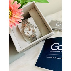 Gm store- Đồng hồ nữ mặt đính cườm dây bạc