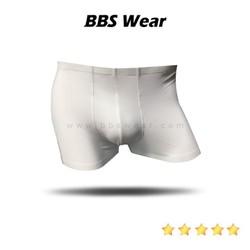 Boxer Lụa Sữa BBS WEAR Xuất Nhật, Quần Lót Nam Thun Lụa Chất Đẹp Sịp Mát Lạnh (White)