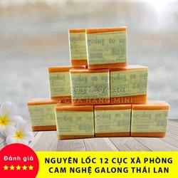 [HOT] Combo 12 Cục Xà Phòng (Xà Bông) Kích Trắng Da Cam Nghệ Galong Thái Lan